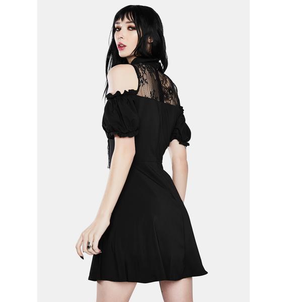 Dark In Love Gothic Lolita Off Shoulder Bow Dress
