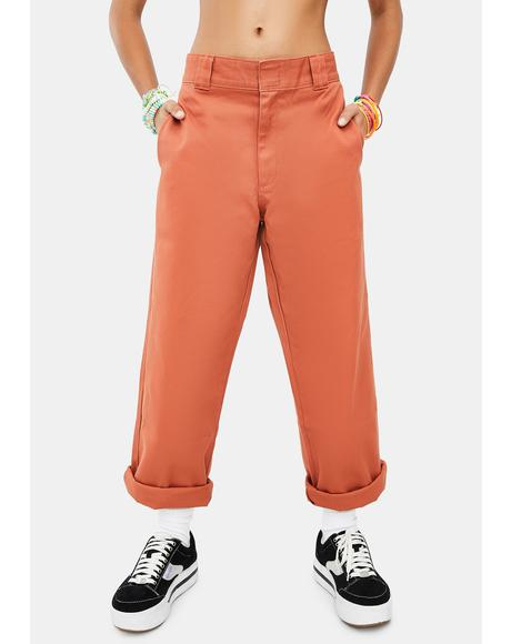 Auburn Work Crop Roll Hem Pants