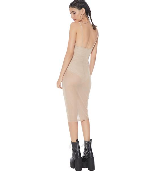 In The Nude Sheer Dress