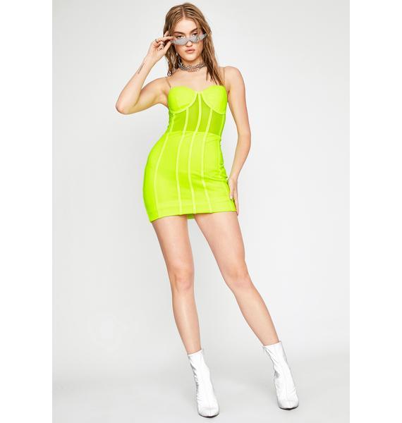Lime Professionally Dangerous Mini Dress