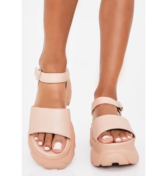 Natural Come Correct Platform Sandals
