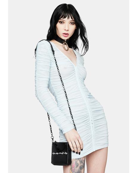 Sky Blue Garter Mini Dress