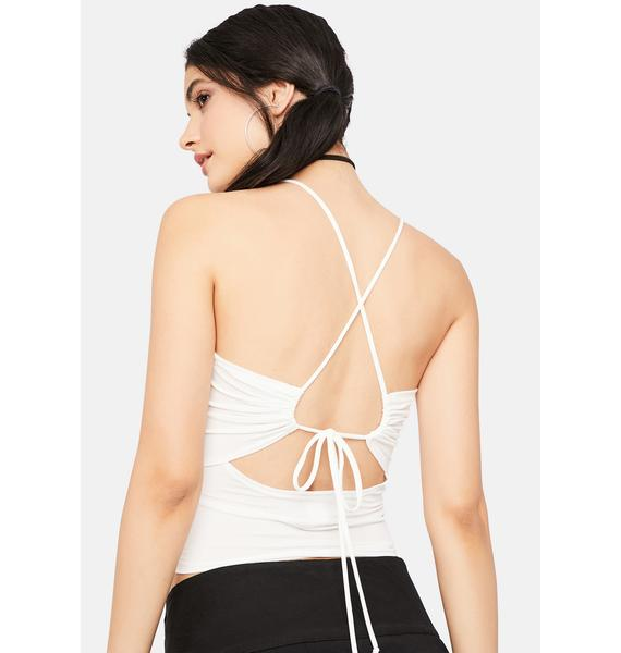 Angelic Chic Break Ruched Tank Top