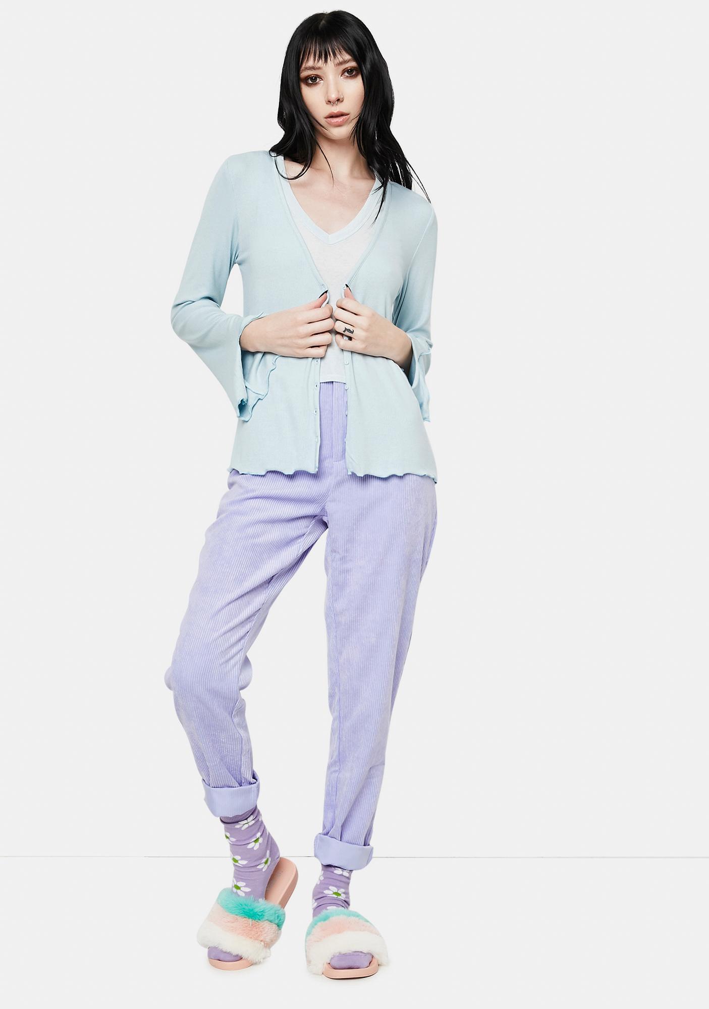 Bailey Rose Baby Blue Long Sleeve Jersey Cardigan