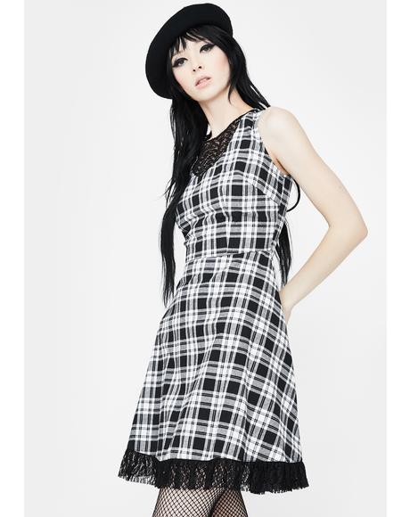 It's A Picnic Lace Trim Skater Dress
