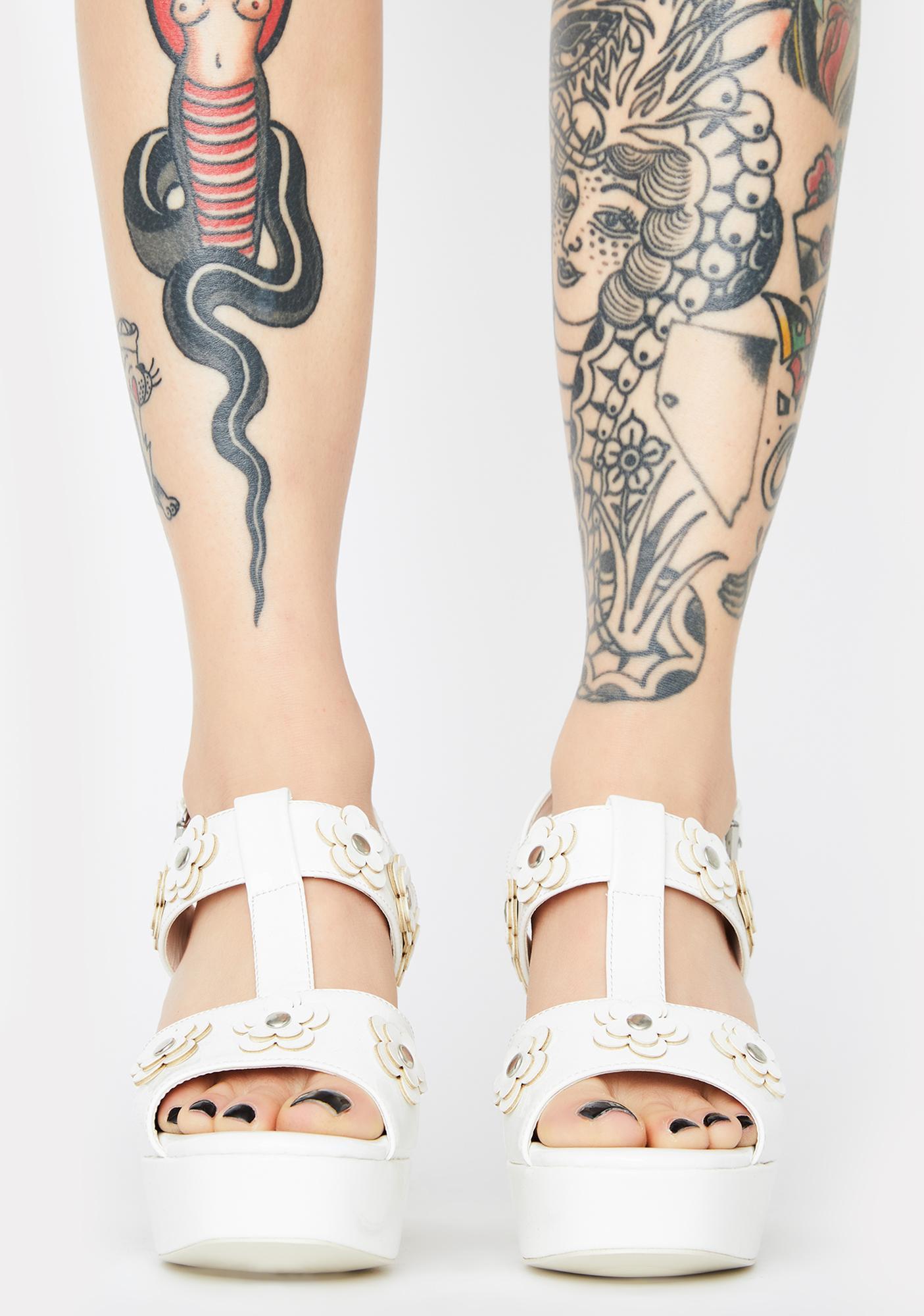 dELiA*s by Dolls Kill Boardwalk Talk Platform Heels