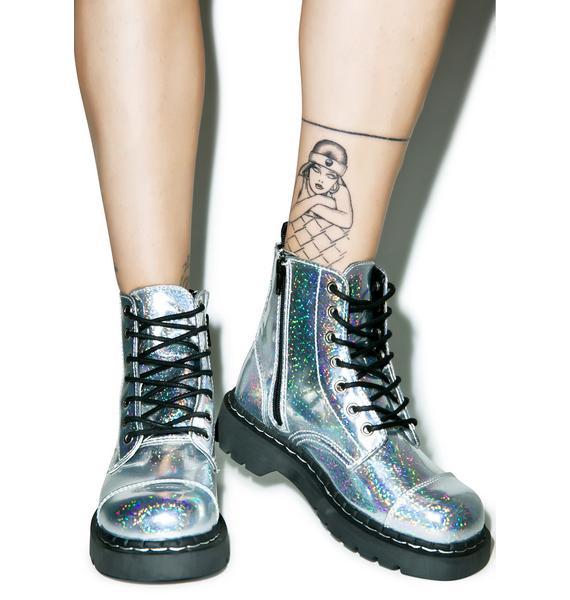 T.U.K. Hologram Anarchic 7 Eye Boots