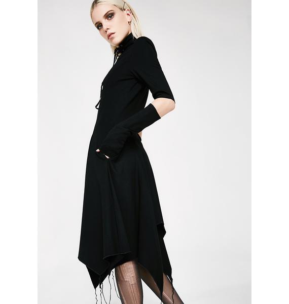 Punk Rave Gothic Heart Asymmetrical Dress