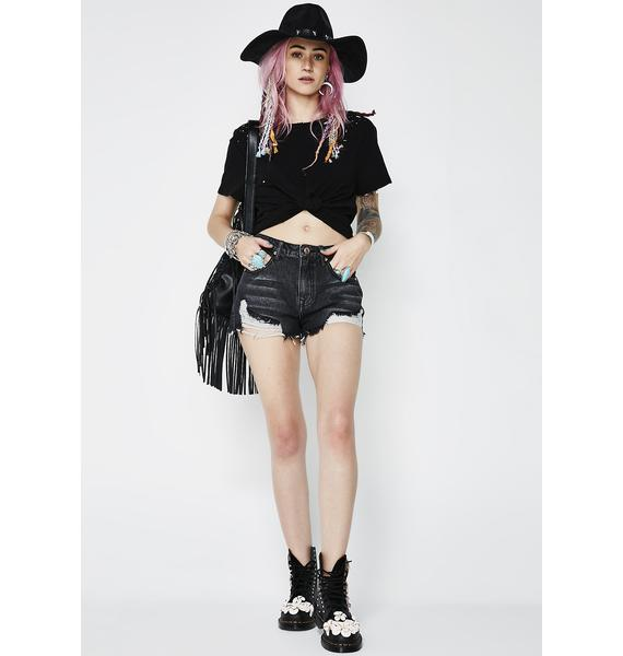 Date With The Night Denim Shorts