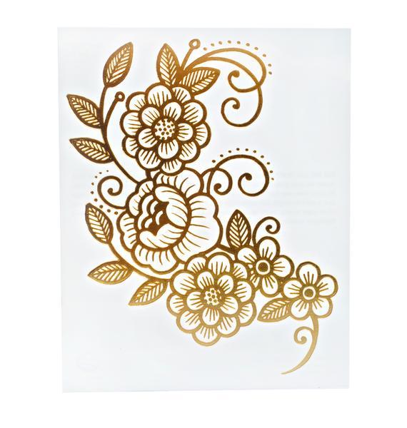 Gold Vine Temporary Tattoo