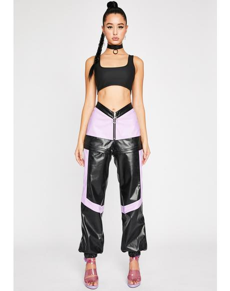 High Profile Convertible Moto Pants