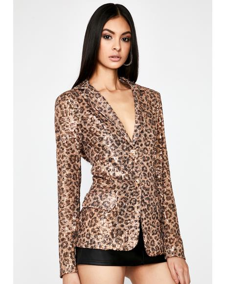 Disco Kitten Sequin Blazer