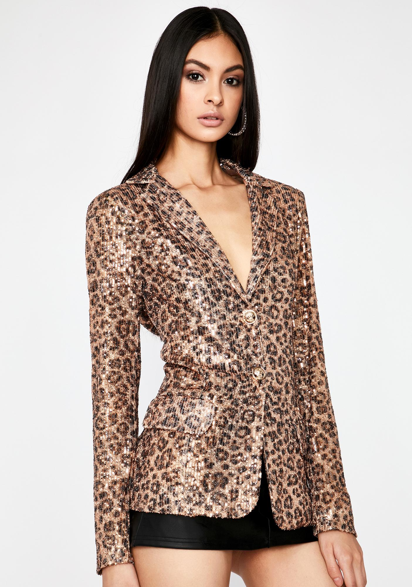 Disco Kitten Sequin Blazer