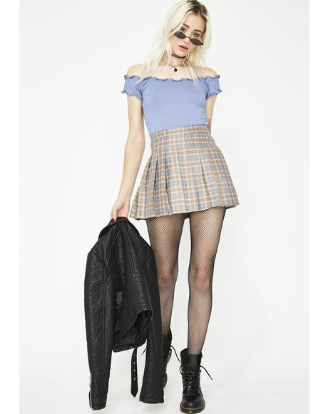 Stoned Just Like Candy Pleated Skirt