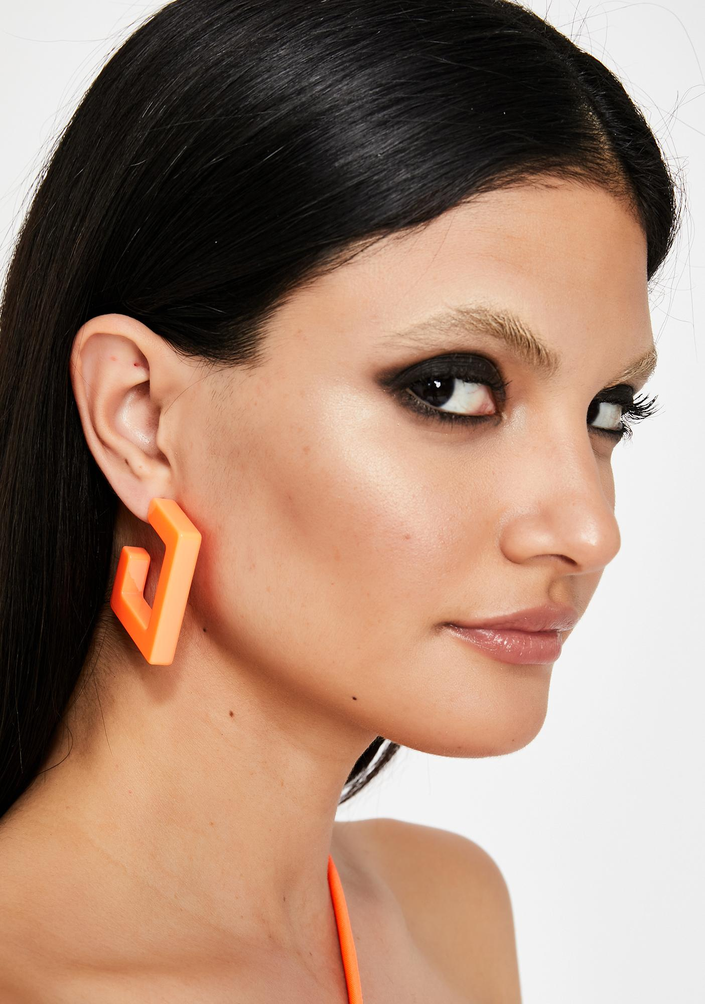 Juiced Artsy Angles Square Earrings