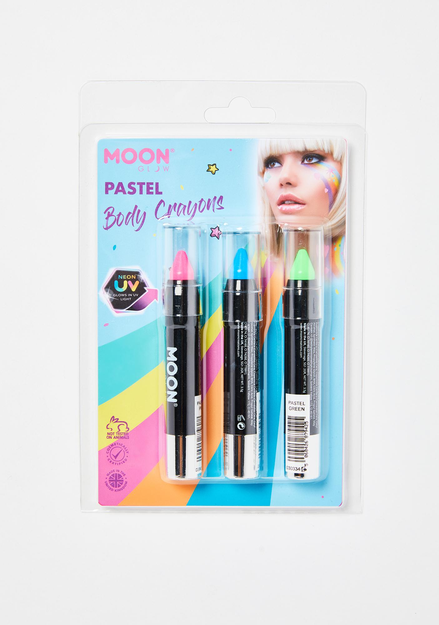 Moon Creations Clamshell UV Body Crayon Trio Pack