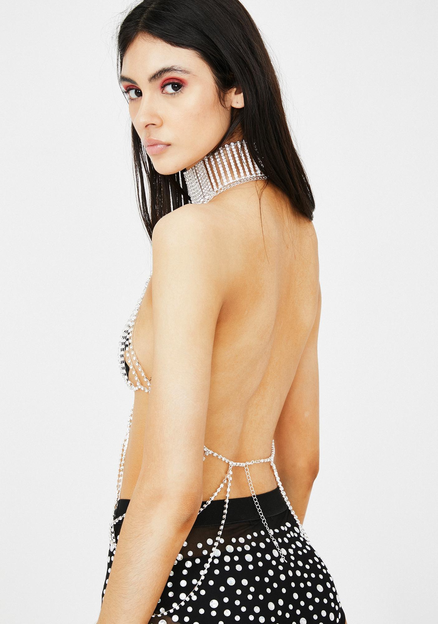 Jaded London Diamante Body Chain
