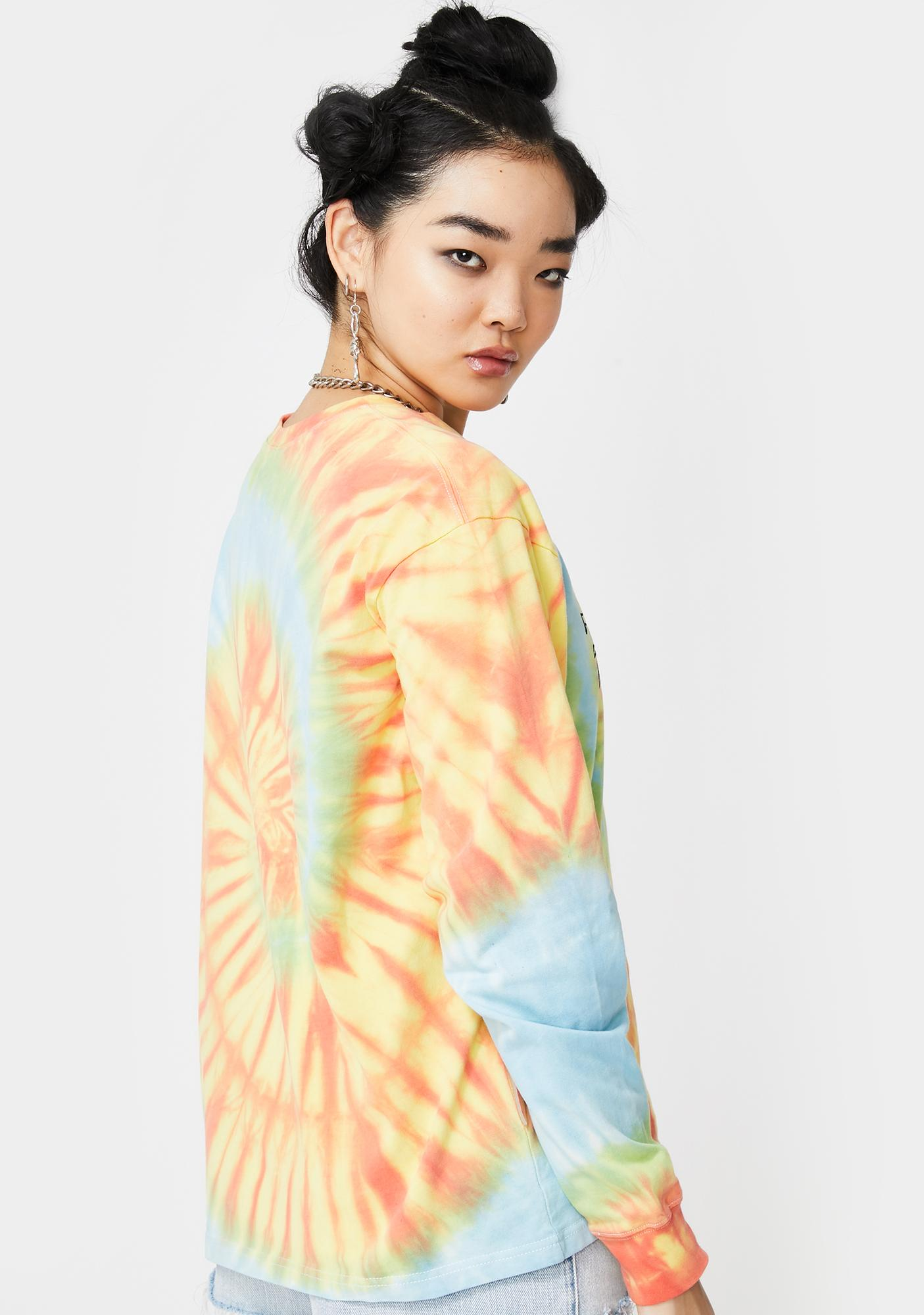 Ziq & Yoni Tie Dye Logo Long Sleeve Tee