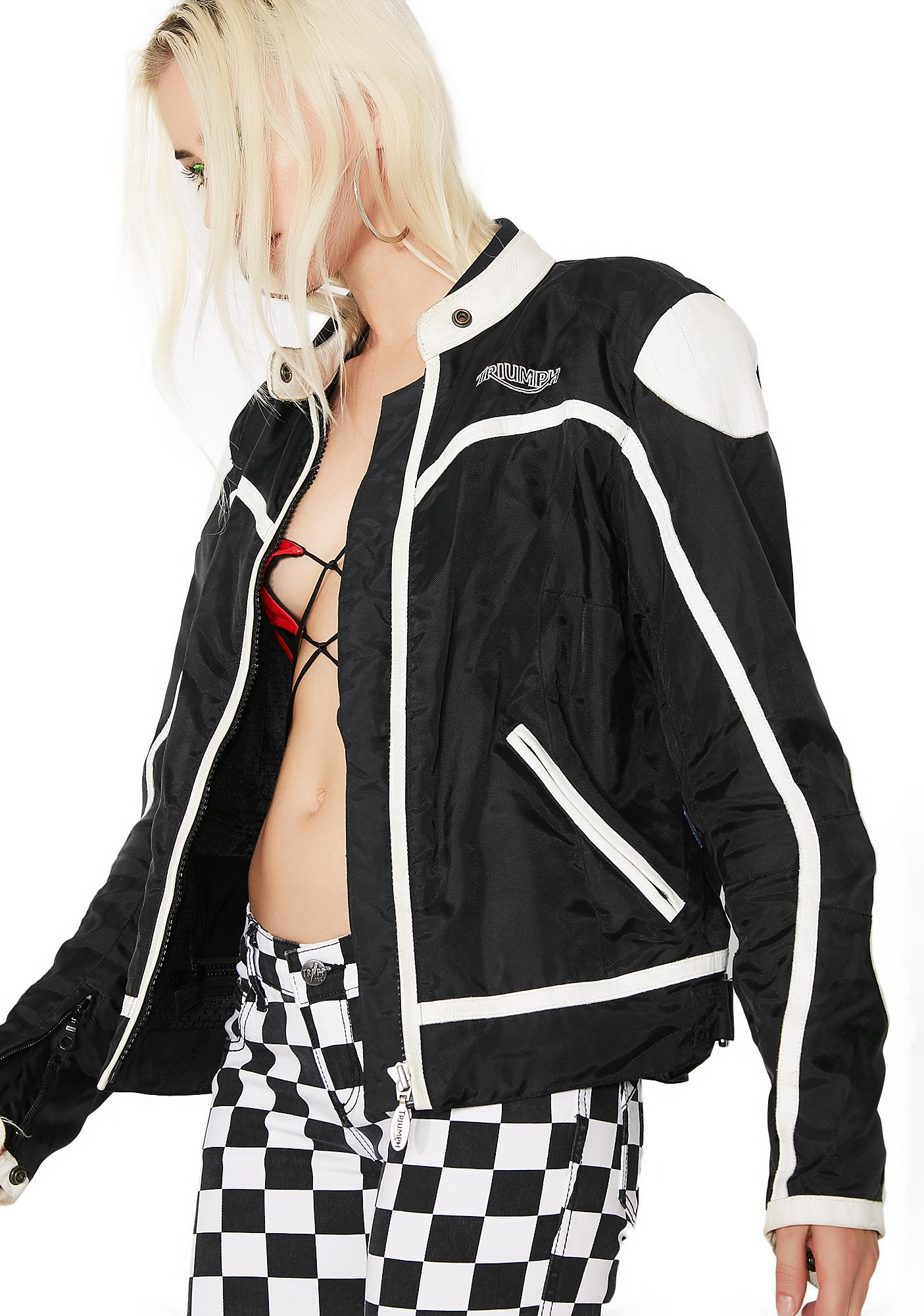 9728c883e419 Vintage Triumph Black Racing Jacket | Dolls Kill