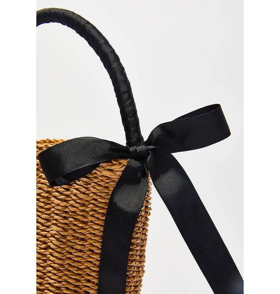 Picking Flowers Basket Bag