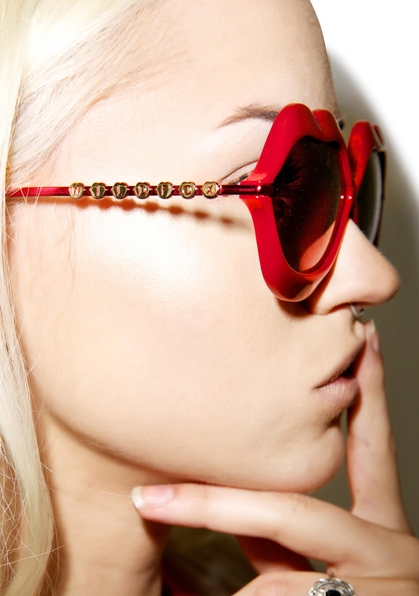 Lip Sunglasses  wildfox couture red lip service sunglasses dolls kill