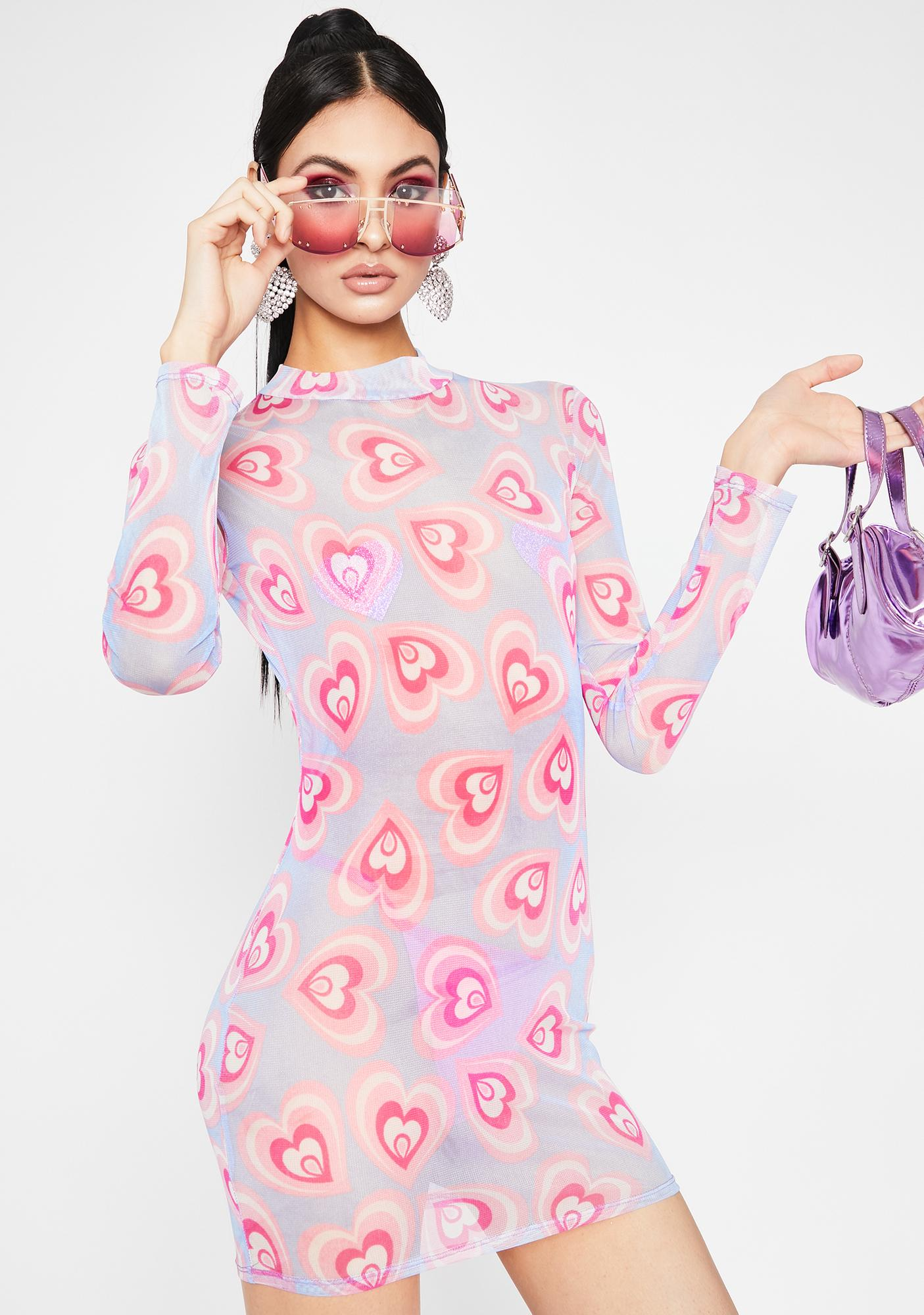 Psychedelic Luv Mesh Dress