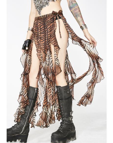 Wild Fierce Femdom Ruffle Skirt