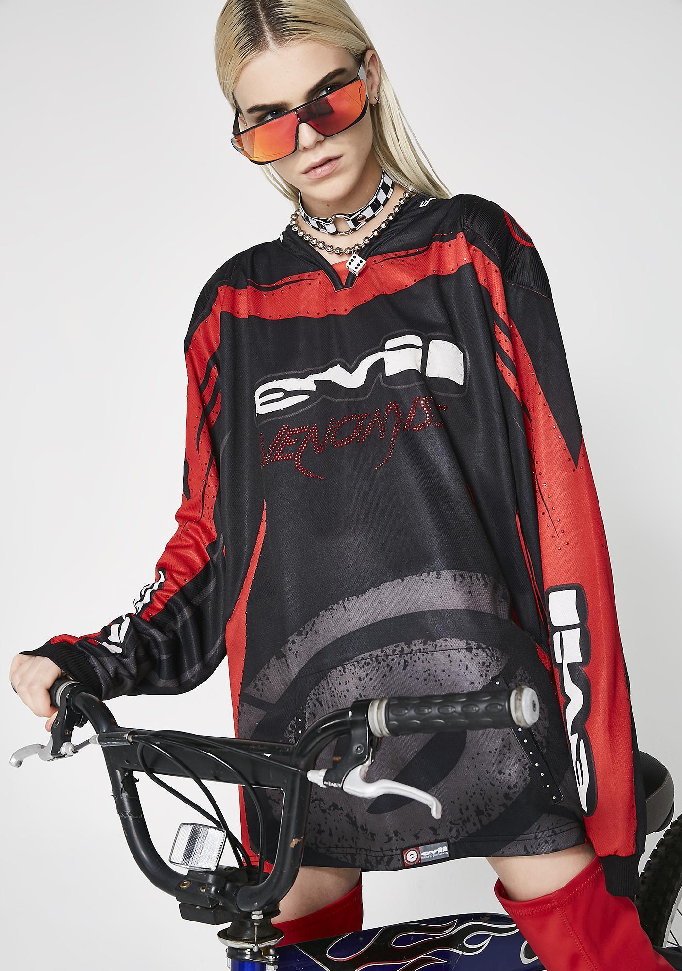 Venomiss NYC X BABEMANIA Western Moto Long Sleeve Tee