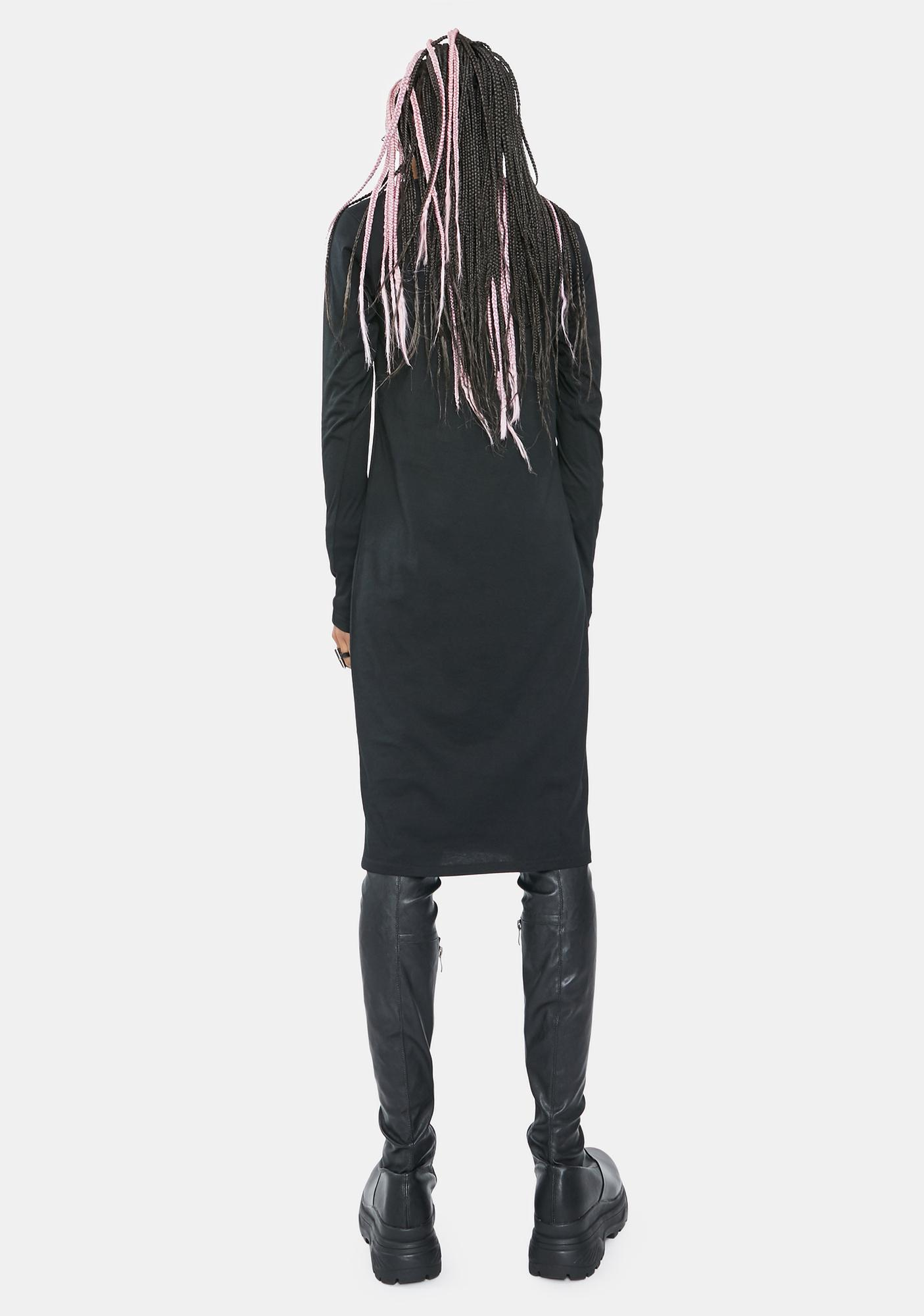 Electric Witch Broken Long Sleeve Graphic Dress