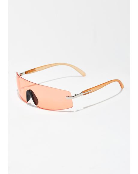 Juicy Rad Times Shield Sunglasses
