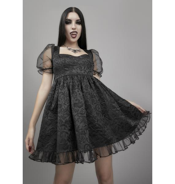 Widow Dark Bidding Babydoll Dress
