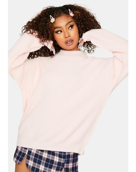 Blush Big Feels Knit Sweater