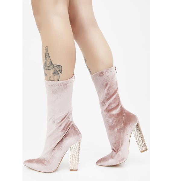 Her Majesty Velvet Boots