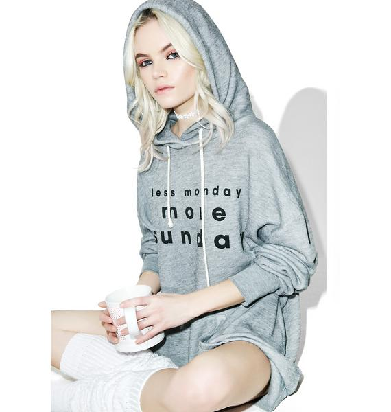 Wildfox Couture 3 Day Weekends Relax Hoodie