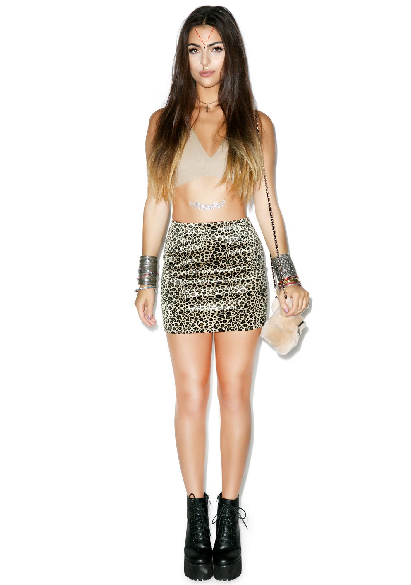R U Faux Real Cheetah Skirt