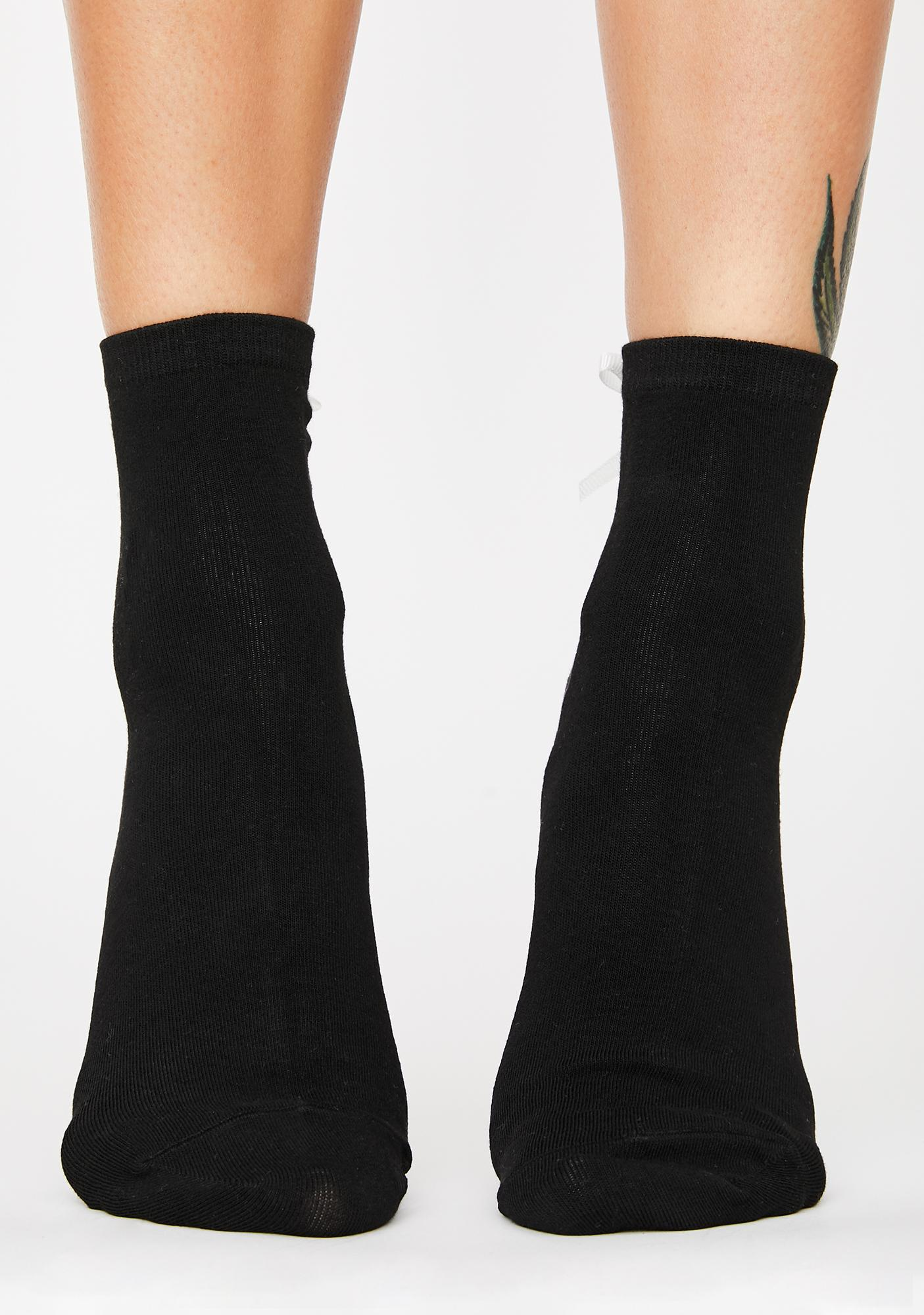 Dark Delicate Balance Ankle Socks