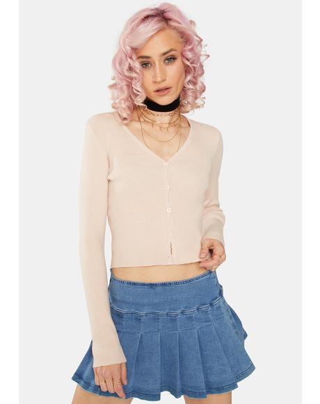 Powder Pink Cardigan