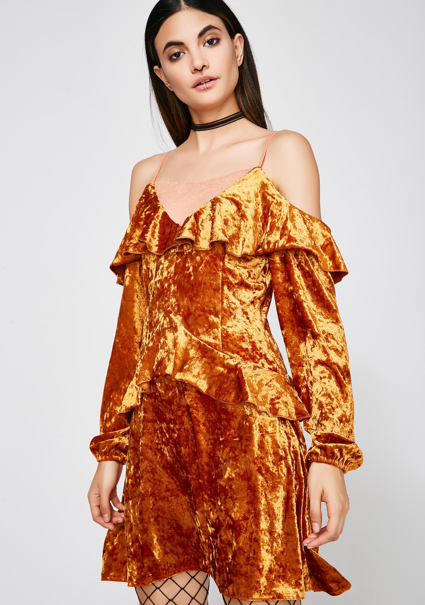Ruffled Up Velvet Dress