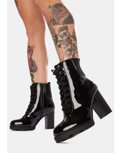 Call Me Cutie Lace Up Ankle Boots