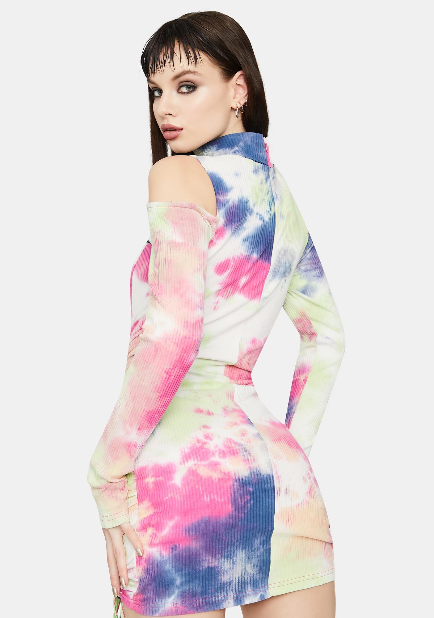 Blush Forgiven Misfit Tie Dye Mini Dress