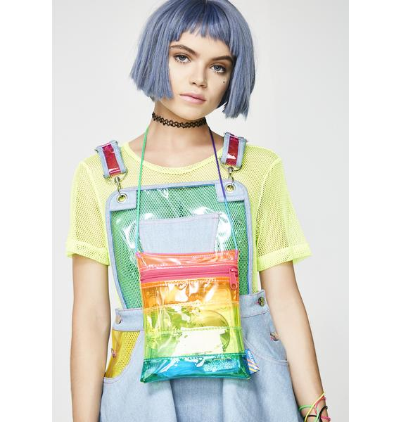 Mokuyobi Vinyl Rainbow Crossbody Bag