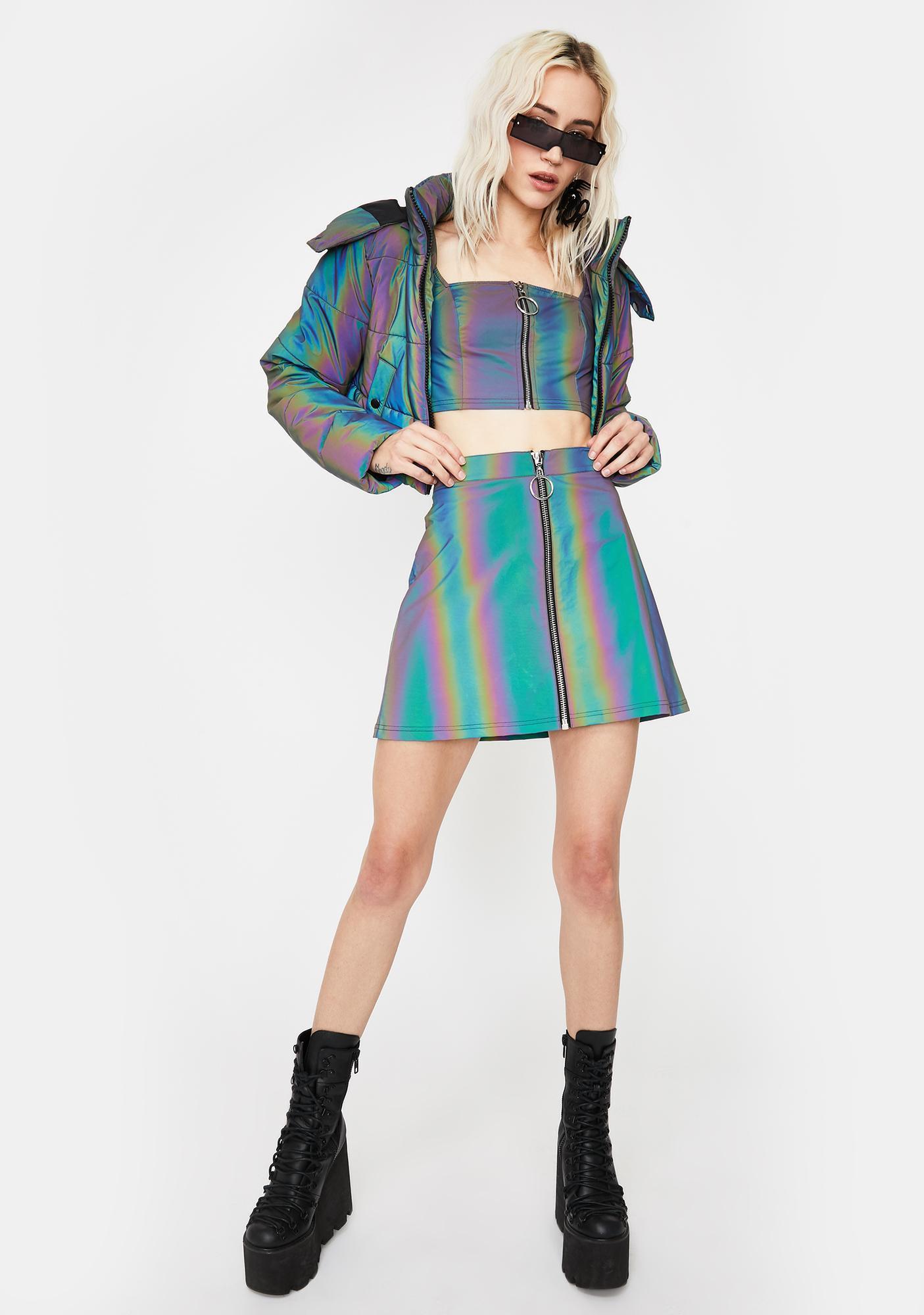 Current Mood Night Savage Signalz Reflective Skirt