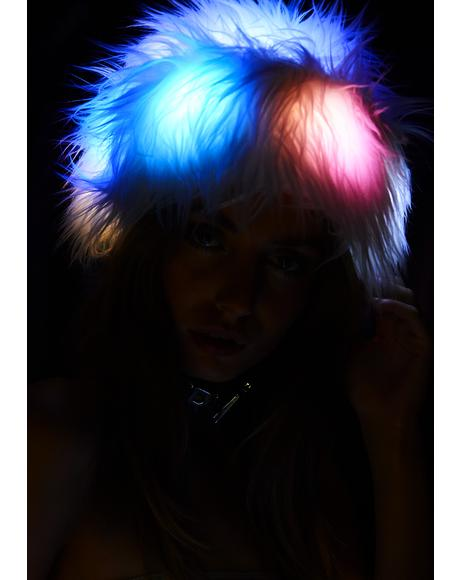 Ice Queen Light Up Fur Hat