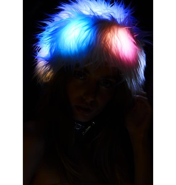 J Valentine Ice Queen Light Up Fur Hat