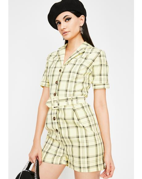 Posh Livin' Plaid Romper