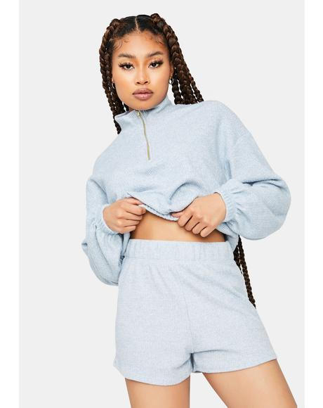 Lounge Life Pullover And Shorts Set
