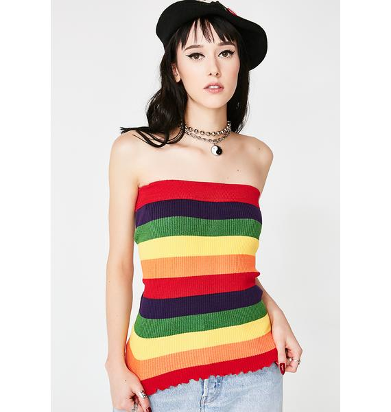 Color Coded Tube Top