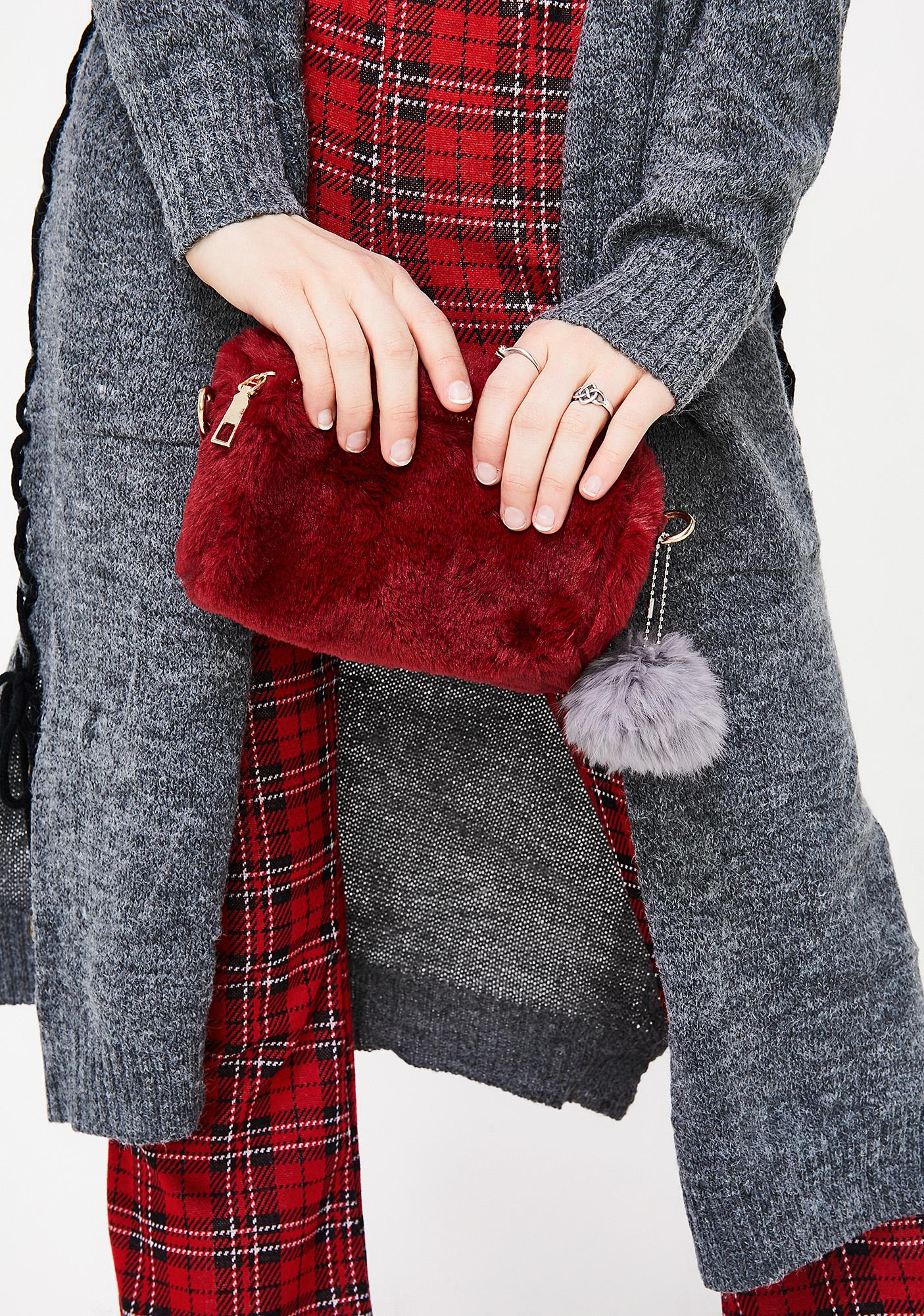 I Get The Bag Faux Fur Purse