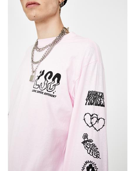 Pink Fake Fairytale LSD Long Sleeve Tee