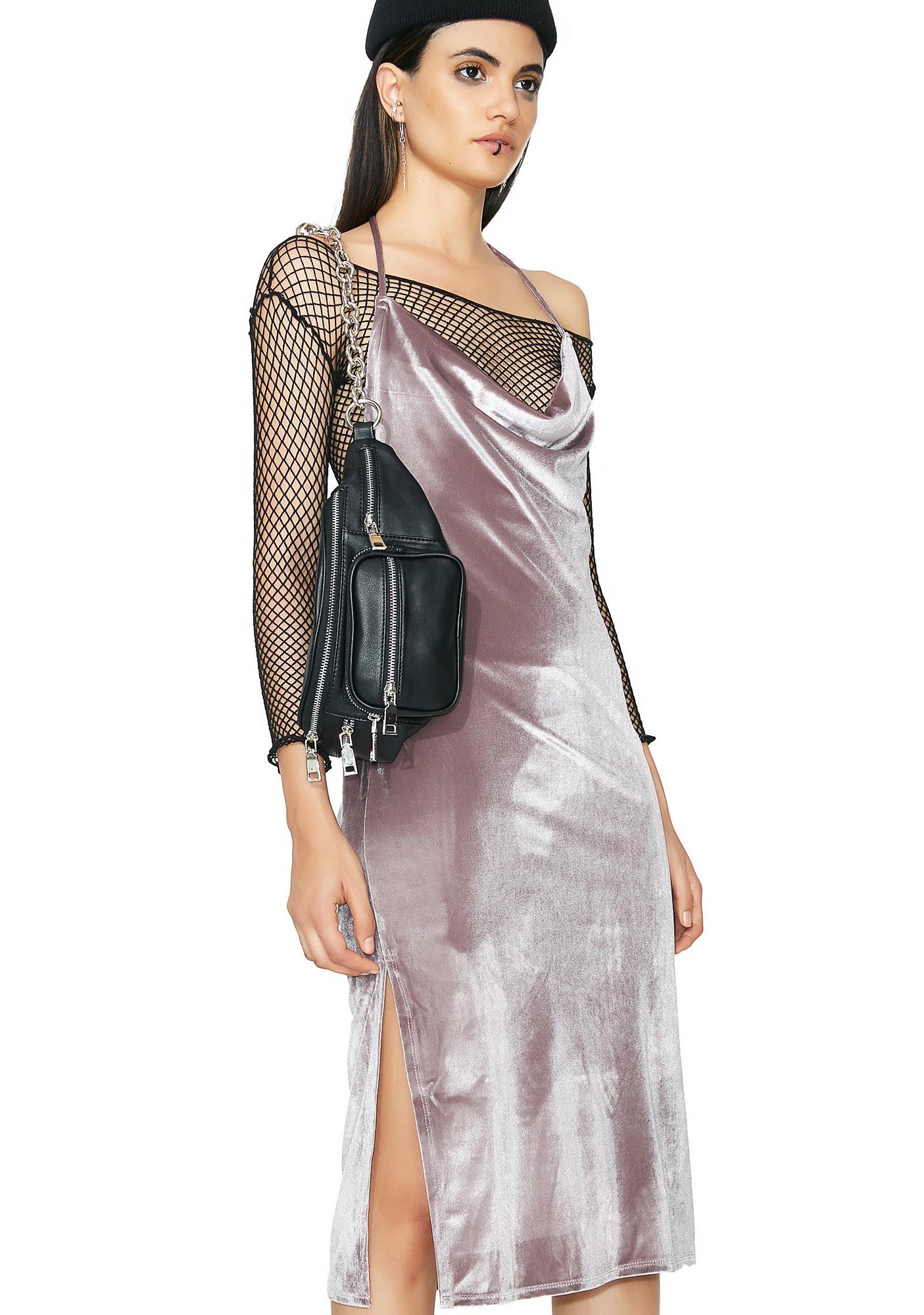 Walk My Way Velvet Dress